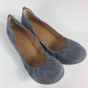 Anya English Grey Suede Ballet Flats